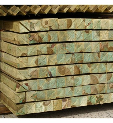Treated Softwood Arris Rail