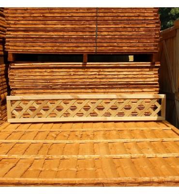 Treated Softwood Heavy Diamond Lattice Trellis Panel - Rectangle