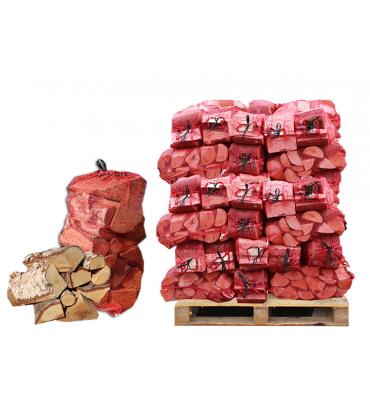 Nets of Seasoned Hardwood Firewood