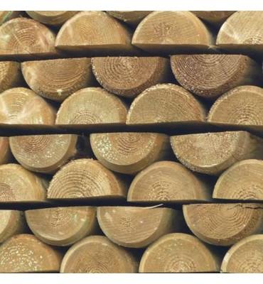 Treated Softwood Half Round Rail