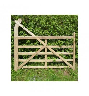 Oak Curved Heel Gate - Ranch Style
