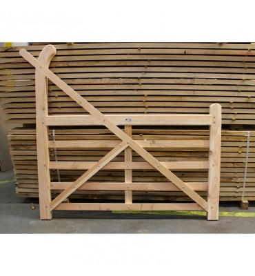Untreated Larch/Douglas Fir Curved Heel (Ranch Style) Gate