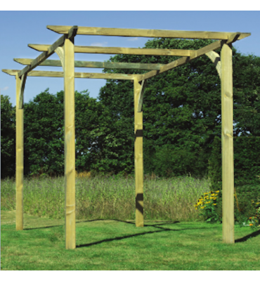 Treated Softwood Planed and Slotted Pergola Support Post