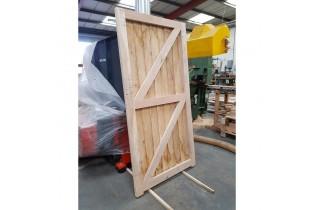 Oak Featheredge Pedestrian Gate - Reverse - Side
