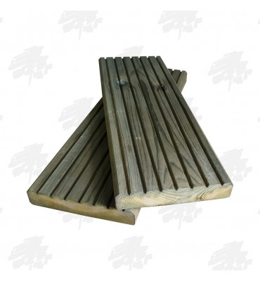 Green Treated Decking Boards 145 x 28mm